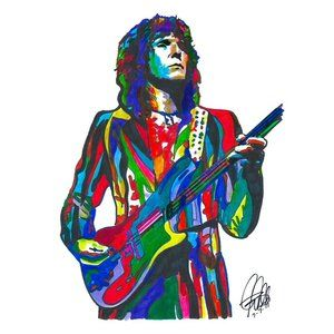 Chris Squire of Yes  Bass Guitar Music Print 18x24